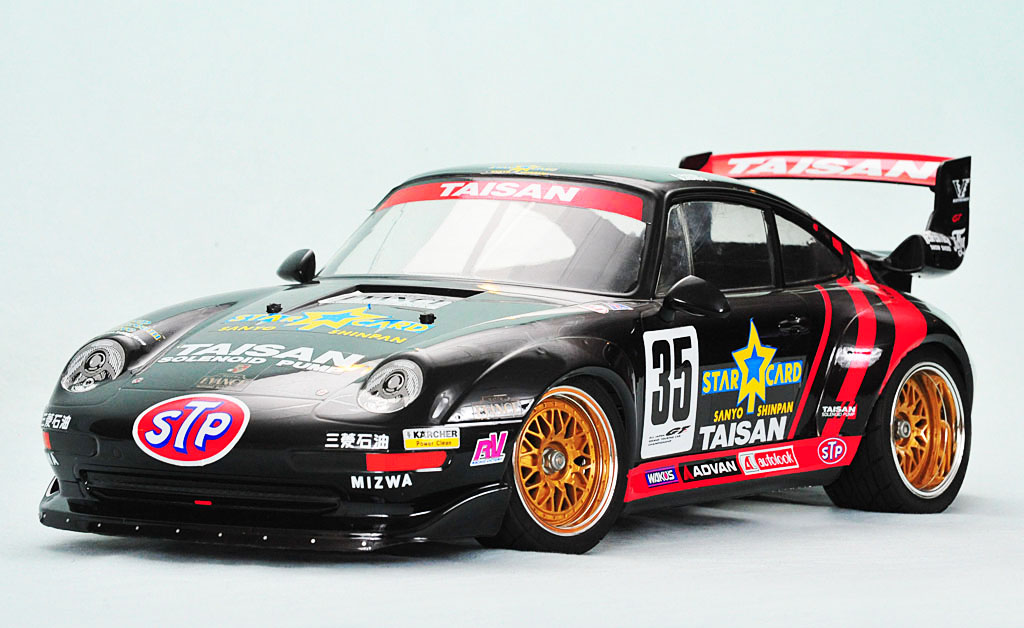 tamiya taisan starcard porsche 911 gt2 1996 rc. Black Bedroom Furniture Sets. Home Design Ideas